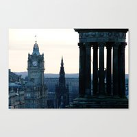edinburgh Canvas Prints featuring Edinburgh by Joao Mendes