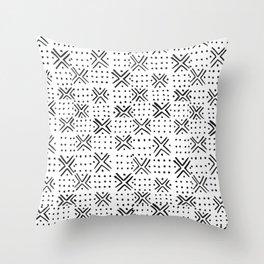 Pattern - White & Black Throw Pillow