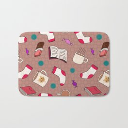 A Cozy Winter's Night Bath Mat