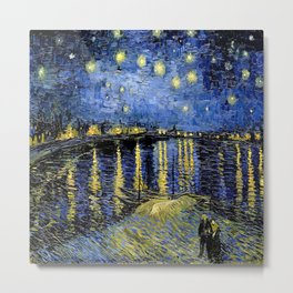 Van Gogh Starry Night Over the Rhône Metal Print