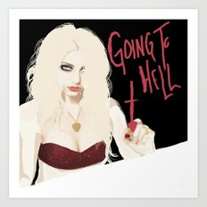 Taylor Momsen Going to hell. Art Print