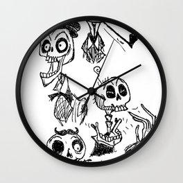 Bone Heads Wall Clock