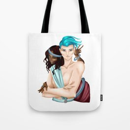 Saturn and Neptune Tote Bag