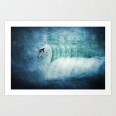 swan's way Art Print