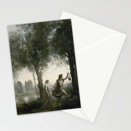 Camille Corot - Orpheus Leading Eurydice From The Underworld Stationery Cards