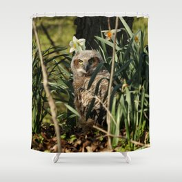 Among the daffodils Shower Curtain