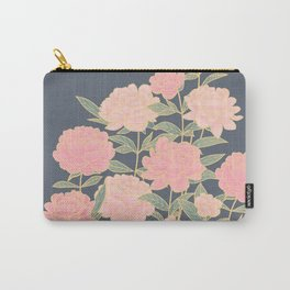 Pink peonies vintage pattern Carry-All Pouch