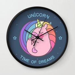 Sleeping cute unicorn Wall Clock