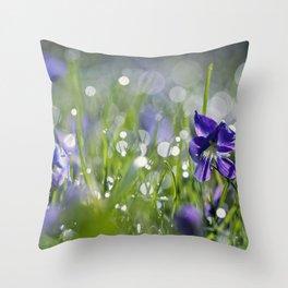 violet morning Throw Pillow