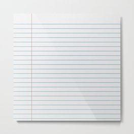 The Pen is Mightier than the Sword | Notebook Paper Edition Metal Print