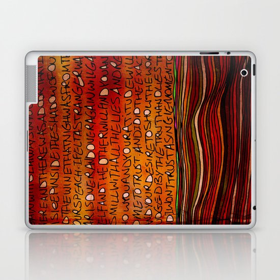 LINE AND WORDS -1 in color Laptop & iPad Skin