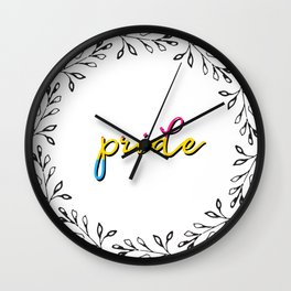 pan pride Wall Clock