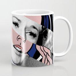 Roy Lichtenstein's Drowning Girl & Tippi Hedren in Birds Coffee Mug