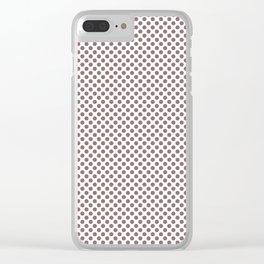 Twilight Mauve Polka Dots Clear iPhone Case