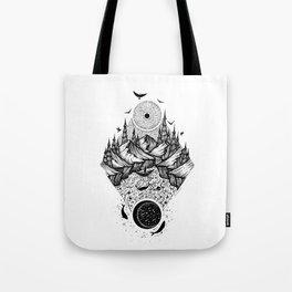 Sun vs Moon Tote Bag