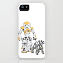 The Dog Walker. (Orange) iPhone Case