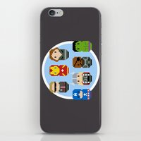 avenger iPhone & iPod Skins featuring Pixel Art - Avenger parody by Cloudsfactory