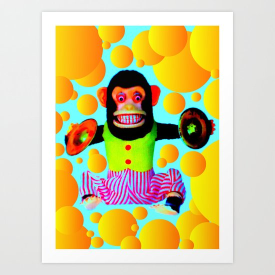 Cymbal Monkey Art Print