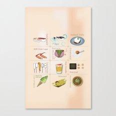 Japanese Food Canvas Print