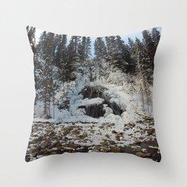 Bridal Veil Falls in Jasper National Park, Alberta Throw Pillow