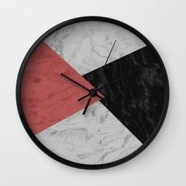 MARBLE TRIANGULES Wall Clock
