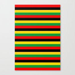 Biafra Mozambique Zambia flag stripes Canvas Print