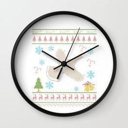 Ruffed Grouse Hunting Christmas Ugly Holiday Shirt Wall Clock