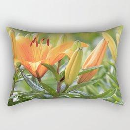 Orange Lily Rectangular Pillow