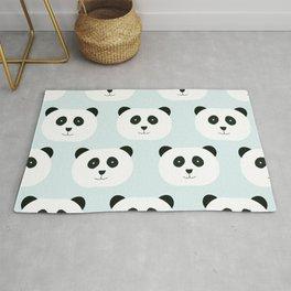 Panda Love- Mint Blue Rug