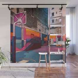 Play the game: Basketballcourt Wall Mural
