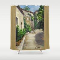 arab Shower Curtains featuring Arab Baths in Palma DP150724a by CSteenArt