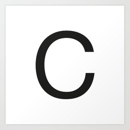 Letter C Art Print