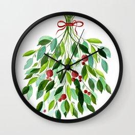 Tic Tac Mistle-Toe Wall Clock