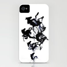 Black horses Slim Case iPhone (4, 4s)