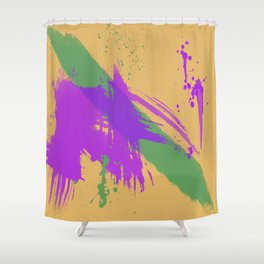 Intrepid, Abstract Brushstrokes Shower Curtain
