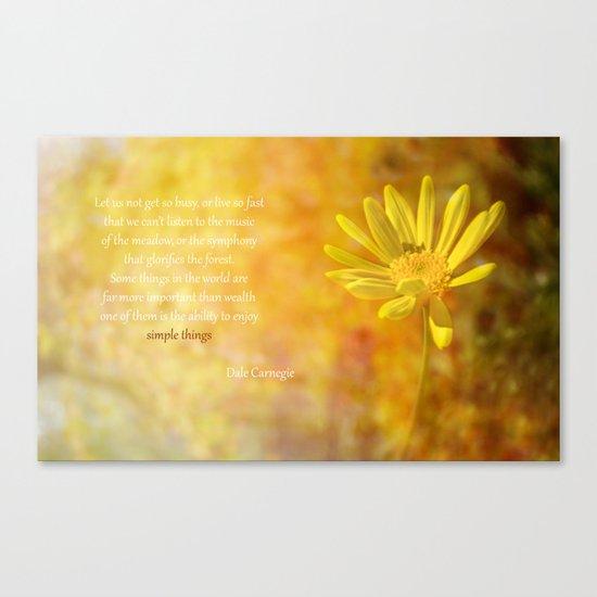 Yellow Daisy (Euryops) Canvas Print