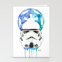 storm trooper Stationery Cards featuring Storm Trooper by Leigh Roundy