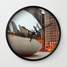 Chicago Bean - Big City Lights Wall Clock