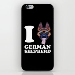 I Love German Shepherd modern v2 iPhone Skin