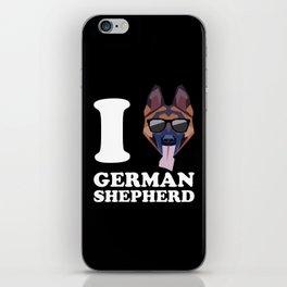 I Love German Shepherd modern v2 iPhone Skin