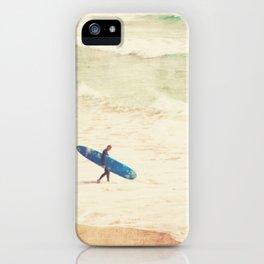 Margin Walker. surfer photograph Hermosa Beach iPhone Case
