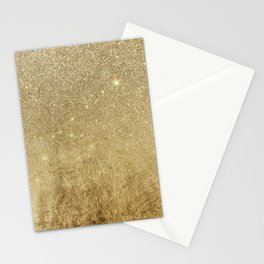 Girly Glamorous Gold Foil and Glitter Mesh Stationery Cards