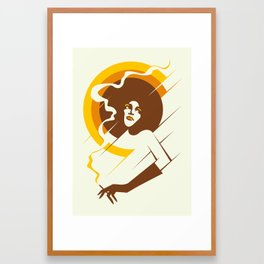 Retropolitan (warm) Framed Art Print