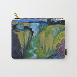 Floral Garden Landscape with Waterfall by Franz von Stuck Carry-All Pouch
