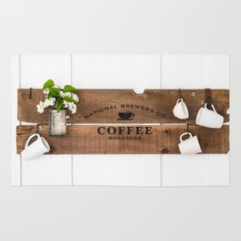 National Brewers Coffee Sign Rug
