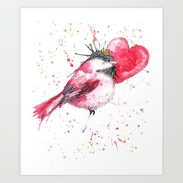 Princess Chicky Heart Art Print