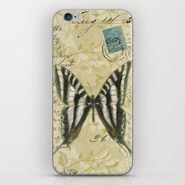Zebra Butterfly iPhone Skin