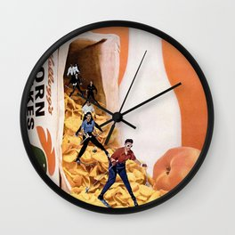 Frosted Slopes Wall Clock