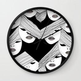 Audrey pattern Wall Clock