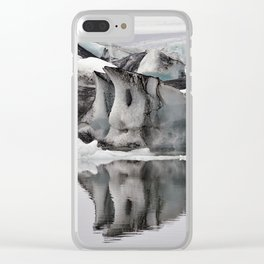 Ashy Glaciers. Clear iPhone Case